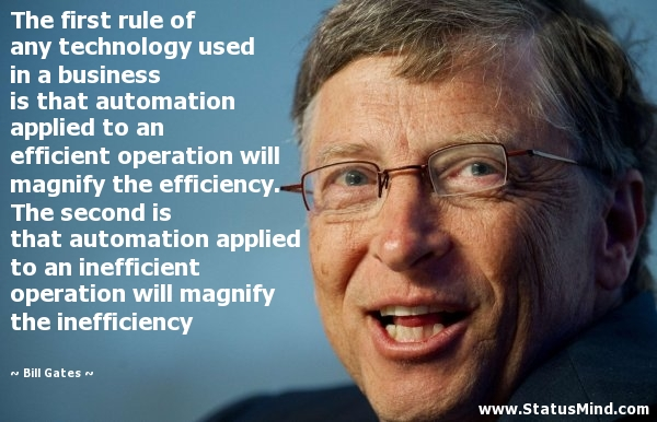 Bill Gates Quote On Automation